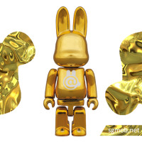 100 Bearbrick Rabbrick Chrome Gold ver (2015)