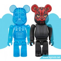 100 Bearbrick Darth Vader & Darth Maul (2016)