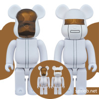 400 100 Bearbrick Daft Punk White Suit ver (2016)