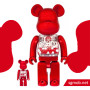 400% & 100% Bearbrick SJ50 My First Baby Red ver (2016)