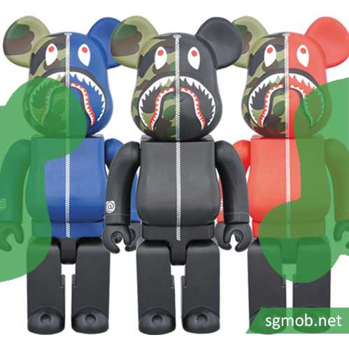 400Bearbrick Bape Shark (2016)