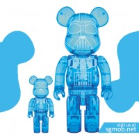 1000 400 Bearbrick Darth Vader Holographic (2015)