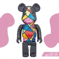 400 Bearbrick Xmas Stained Glass (2016)