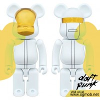 Bearbrick Daft Punk White Suit Super Alloy ver (2016)