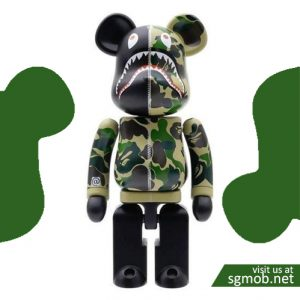 200% Bearbrick Bape ABC Camo Shark(2017)