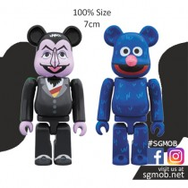 100% Bearbrick Count Von Count & Grover box set (Jan 2019)