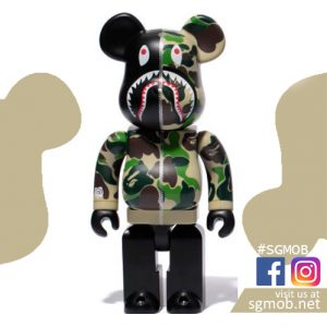 1000% Bearbrick Bape Camo Shark – Green (Mar 2018)