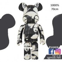 (PO) 1000% Bearbrick Andy Warhol Double Mona Lisa 4 (Oct 2019)