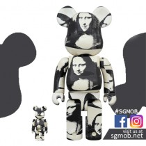 (PO) 400% & 100% Bearbrick Andy Warhol Double Mona Lisa (Oct 2019)