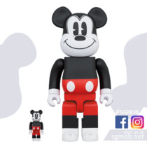 400% & 100% Bearbrick Mickey Mouse R&W (Dec 2020)