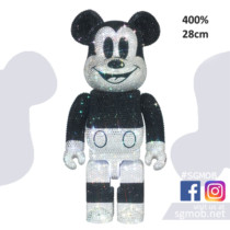 400% Bearbrick CRYSTAL DECORATE MICKEY MOUSE (Jan 2021)
